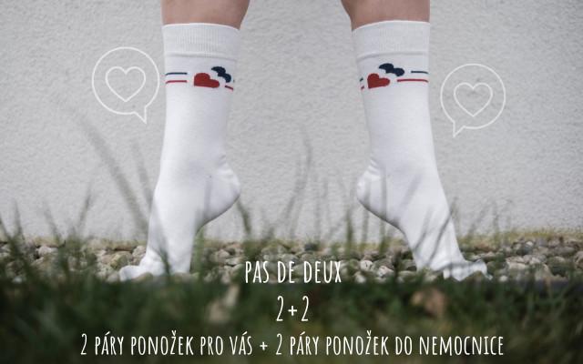 Pas de deux - 2 + 2 páry ponožek