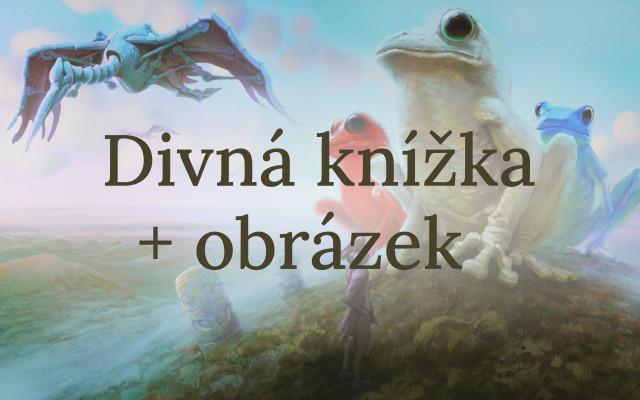 Knížka + obraz se žábami