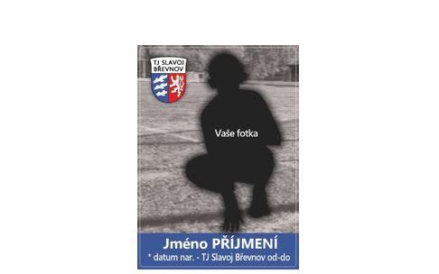 Kartičky TJ Slavoj Břevnov s vaší vlastní fotografií a jménem.