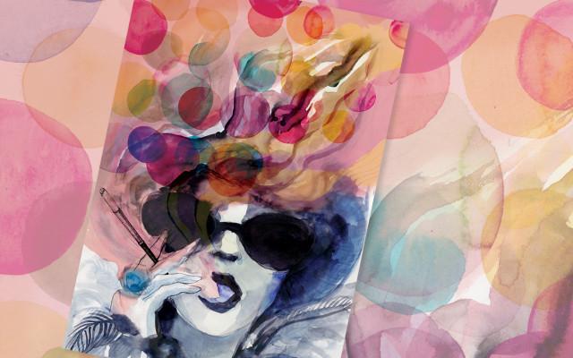 Plakát od výtvarnice Petry Lemonnier malovaný akvarelem