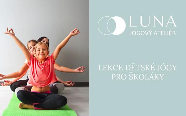 1 lekce dětské jógy pro školáčky