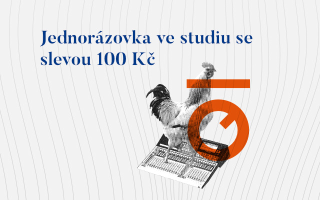 Jednorázovka ve studiu se slevou 100 Kč