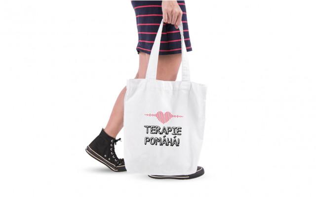 Plátěná taška s logem pomocné ruce