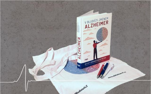 Kniha V bludišti jménem Alzheimer + plátěná taška s logem knihy