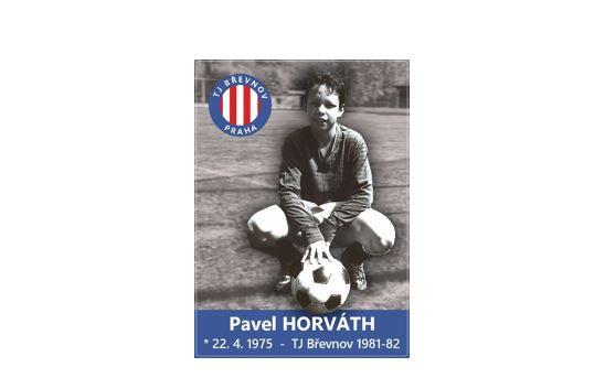 PODEPSANÁ fotbalová kartička s Pavlem Horváthem