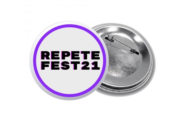 Placky REPETE FESTU (černý nápis)