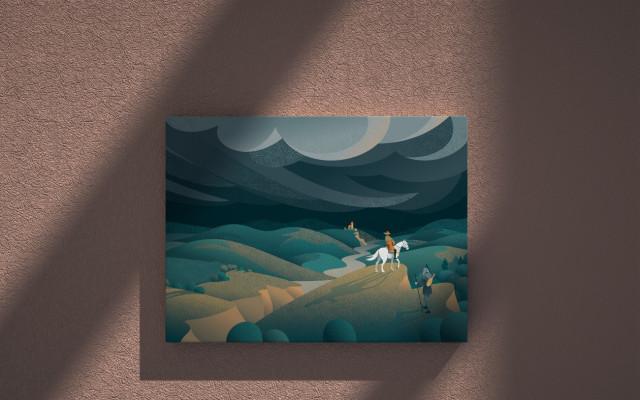 Fotoobraz autorské kresby podle předlohy z knihy 40 x 30 cm