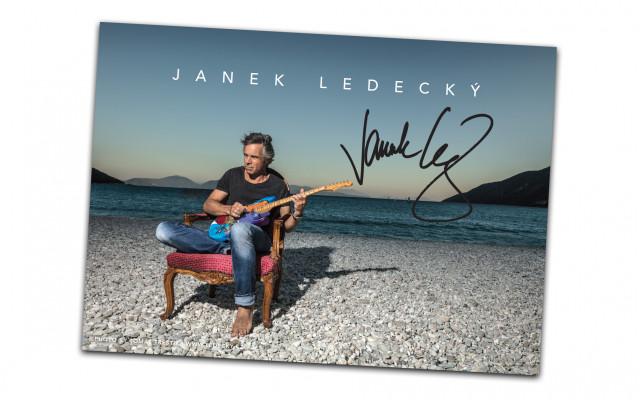 Fotka Janka Ledeckého s podpisem