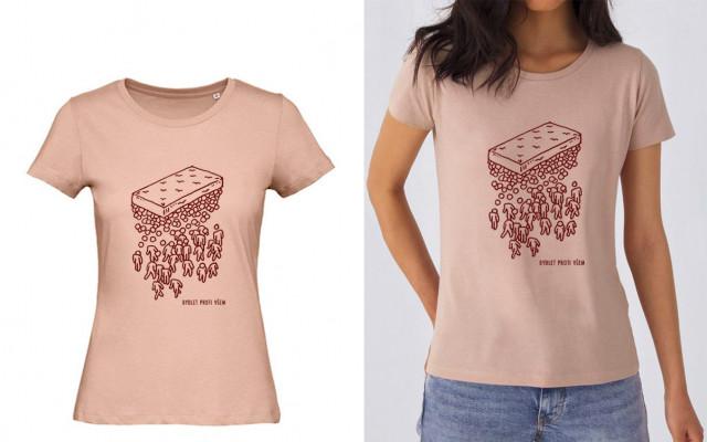 Dámské tričko Bydlet proti všem