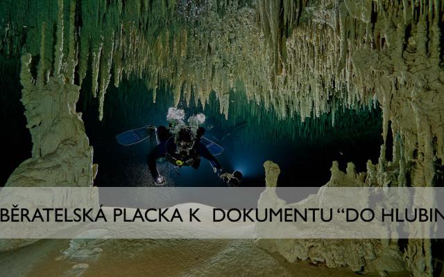 """Sběratelská placka k dokumentu """"Do Hlubin"""""""