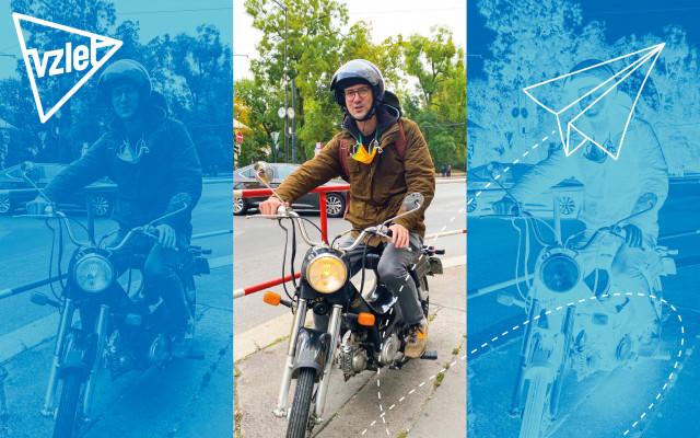 Projížďka s Ondřejem Cihlářem na Jawě New Pionýr